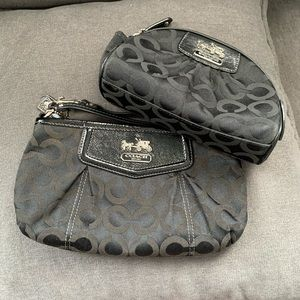 Coach large wristlet and cosmetic case